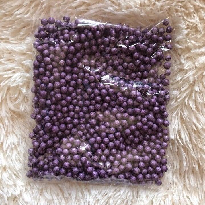 Large Purple Foam Beads