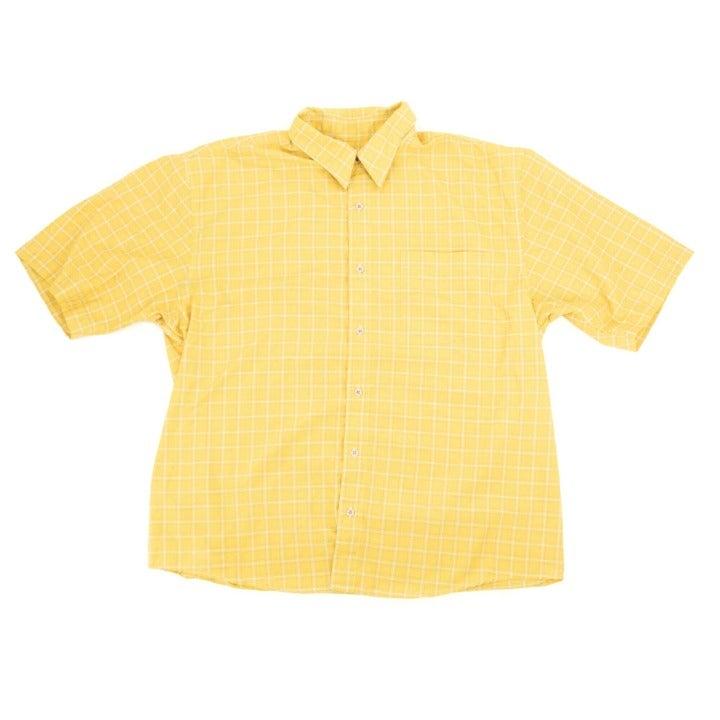 No Fear Button Shirt Checkered Yellow XL