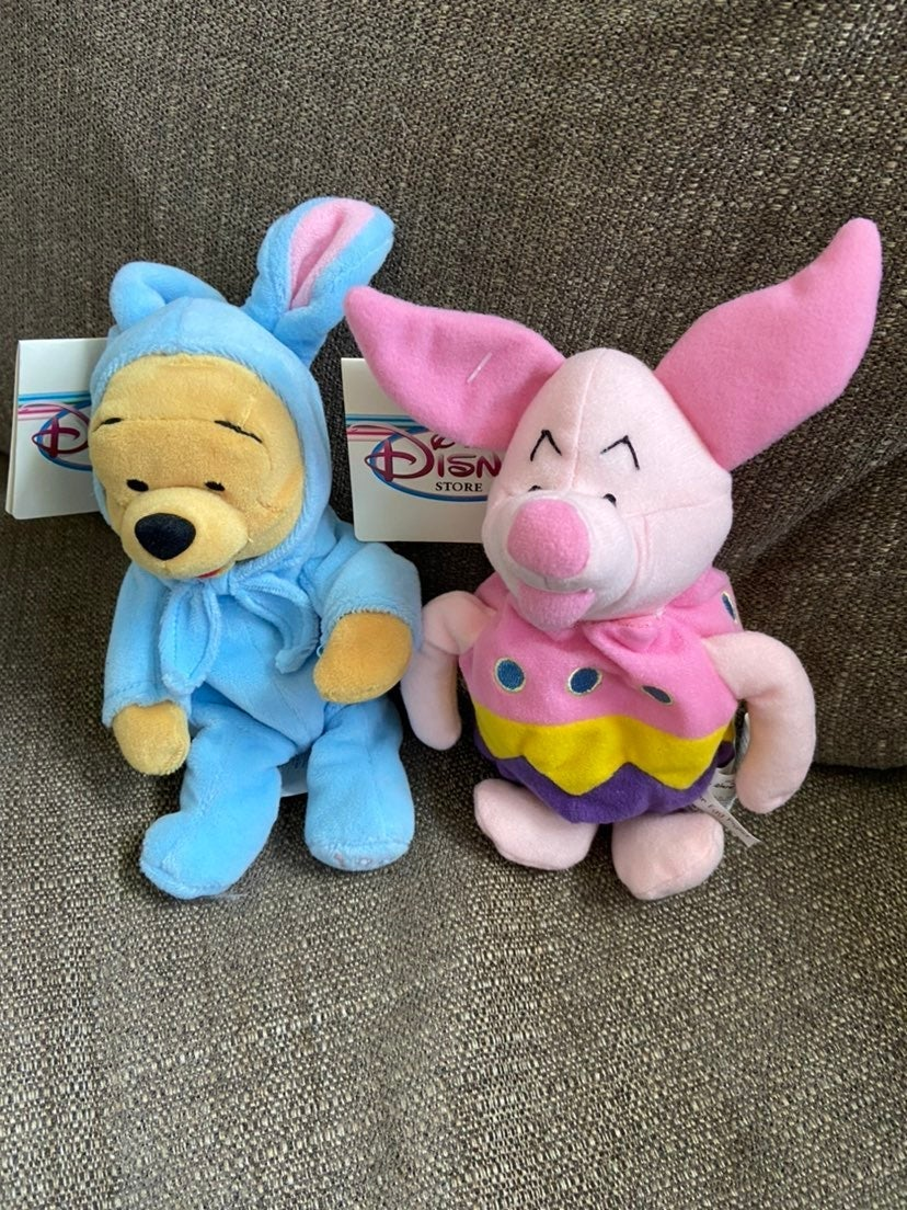 Winnie the Pooh and Piglet Easter Beanie