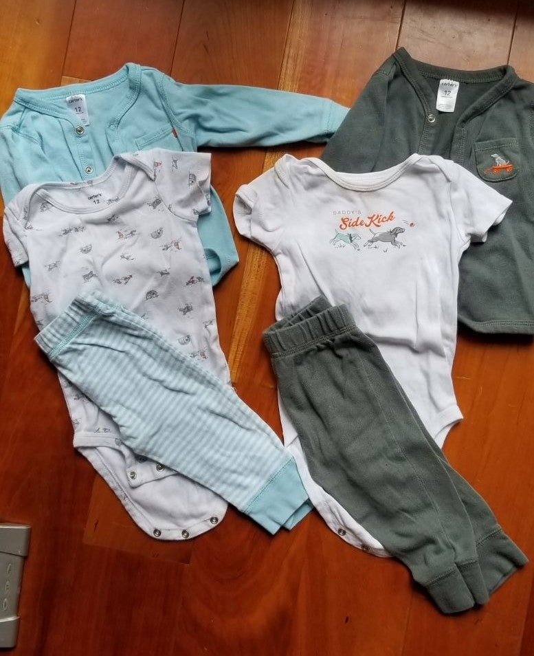 6 Piece Carter's Baby Boy Outfits