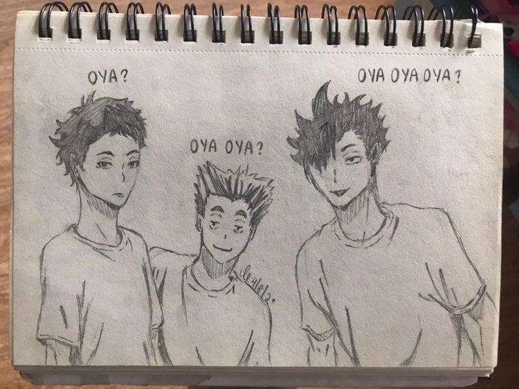 haikyuu drawing