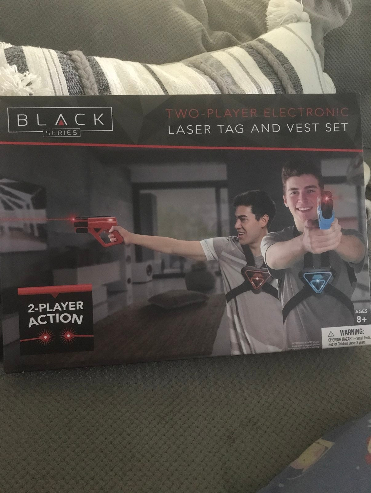 Two player laser tag and vest set