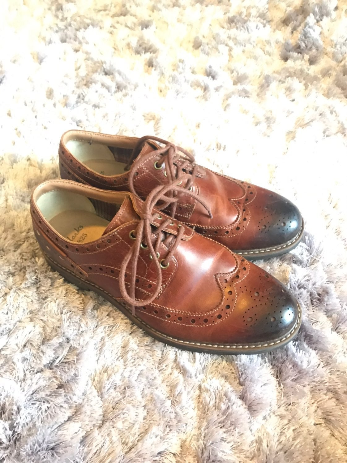 CLARKS Montacute Wing tan Waxy Leather M
