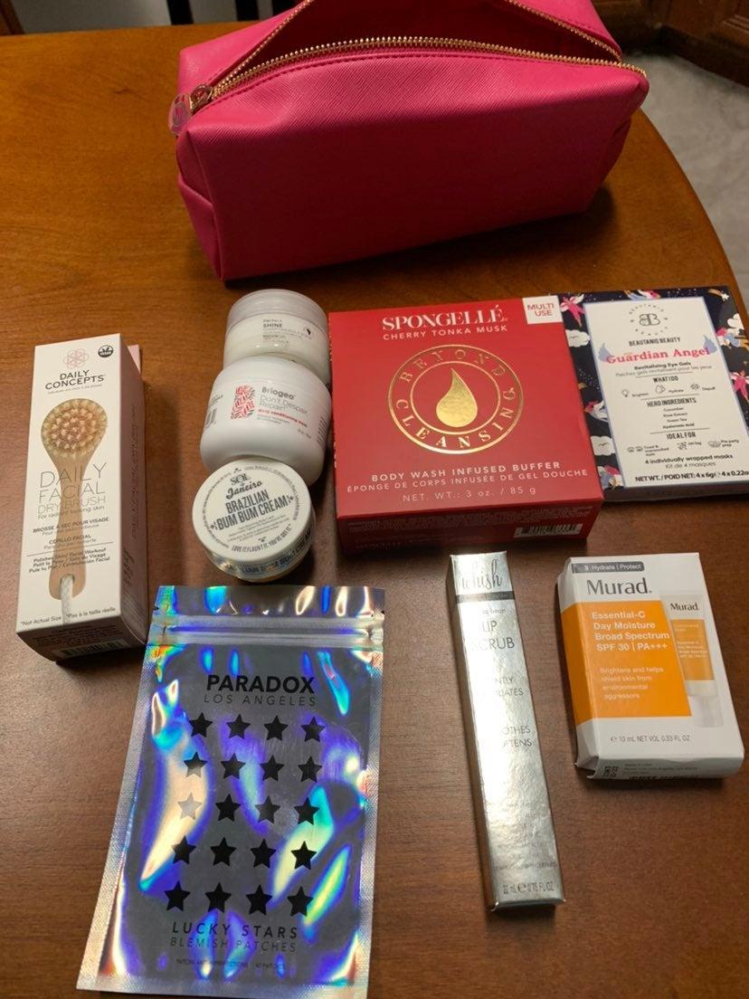 Spa day self care bundle 9 items and bag