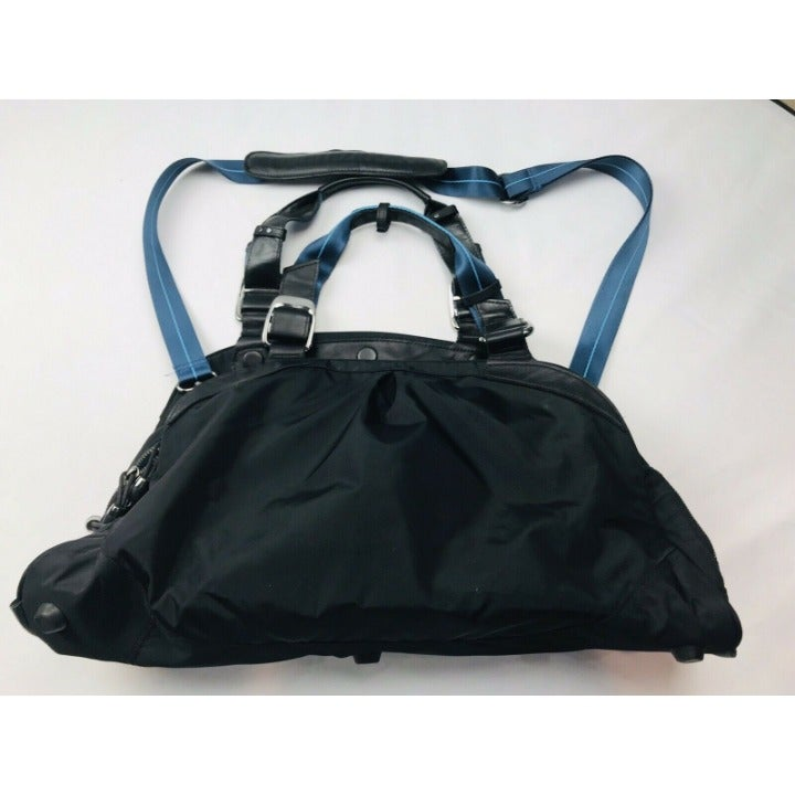 Rare Nike Carry On Zippered Travel Utility Golf Bag Black 20x12 Pockets