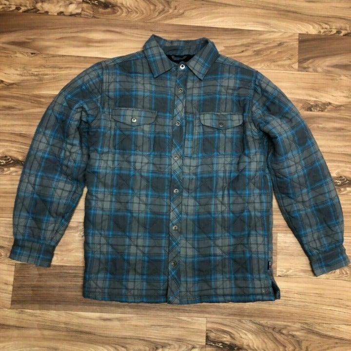 Swiss Tech Plaid Sherpa Lined Shirt Sz M