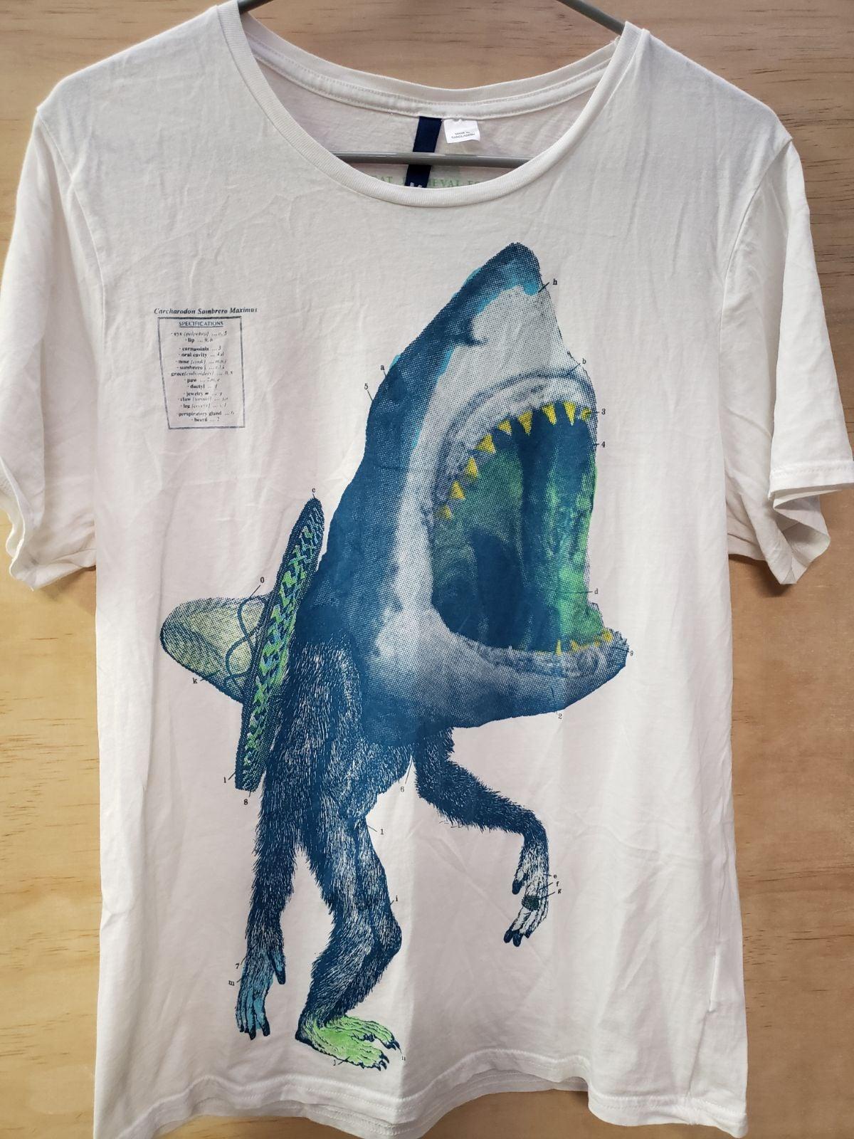 Unisex shark graphic tee medium