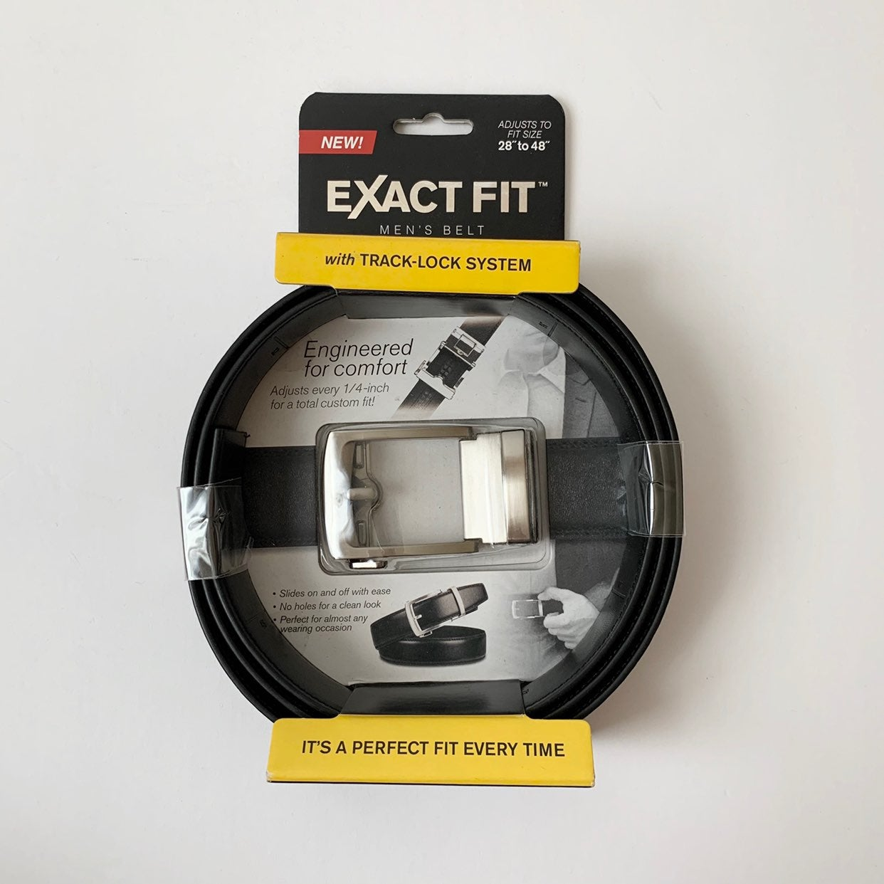 Exact Fit Men's Belt with Track-Lock Sys