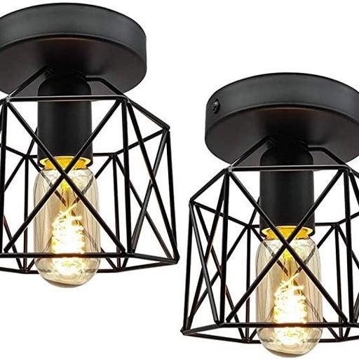 2 Vintage Industrial Mount Ceiling Light