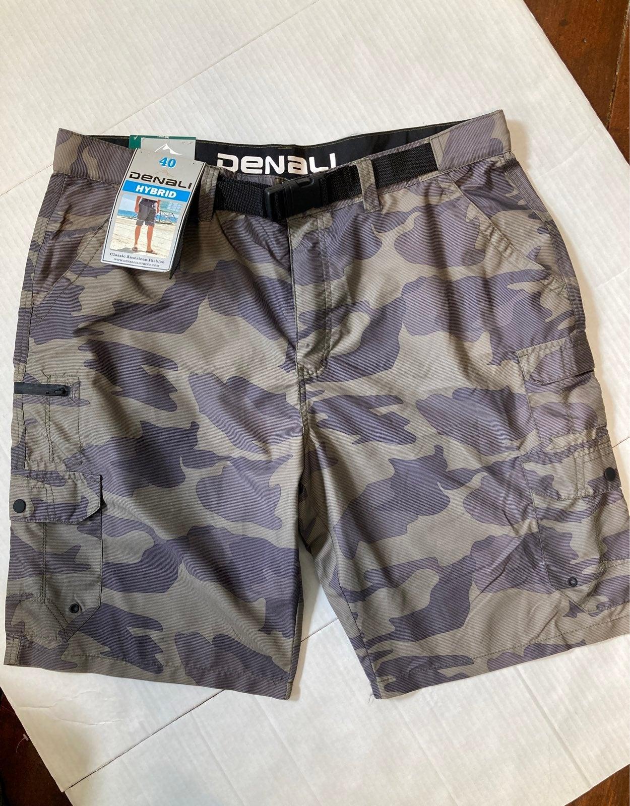 Men/'s Denali Hybride Belted Short cargo noir taille 36