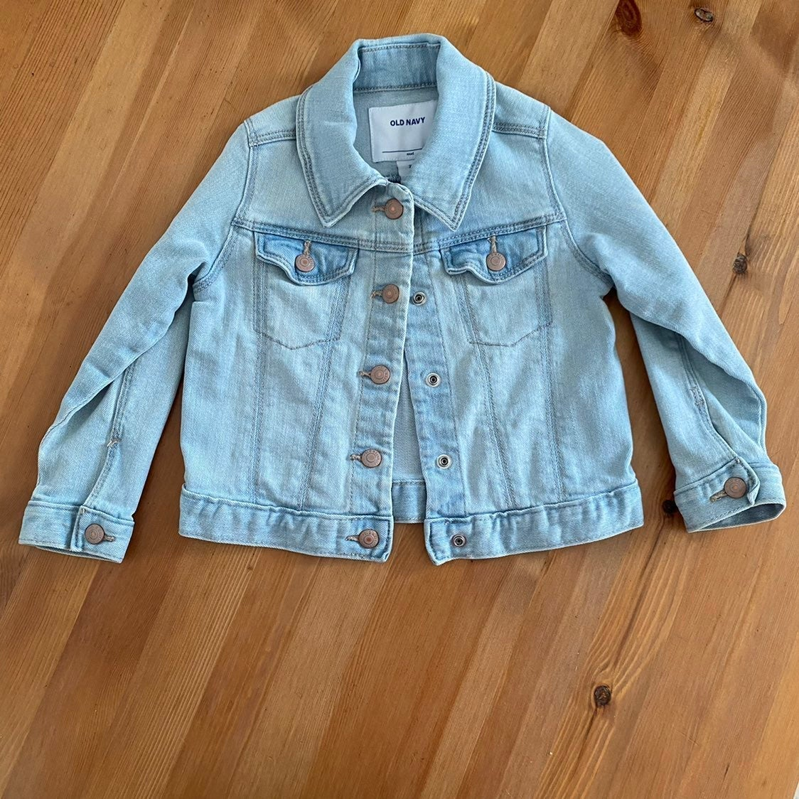 OLD NAVY Sz 2T Bleached Denim Jacket