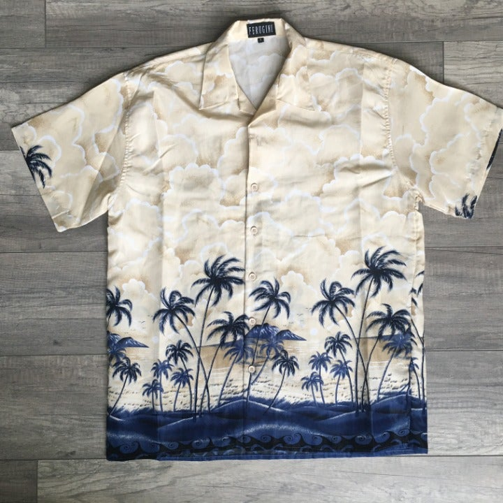 Ferugini Men's Palms Hawaiian Shirt M-LG