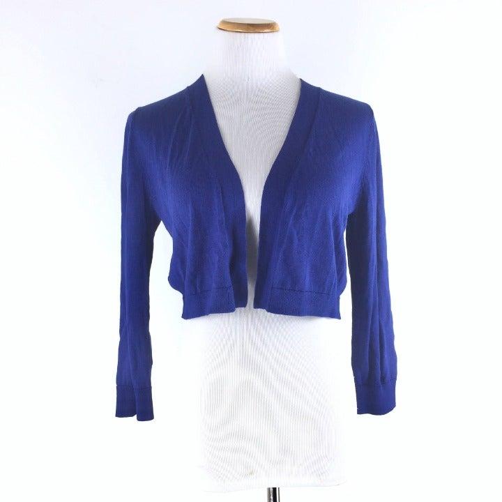 Talbots Size S Shrug Cardigan Blue