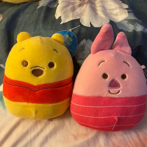 Winnie the pooh and piglet squishmallow