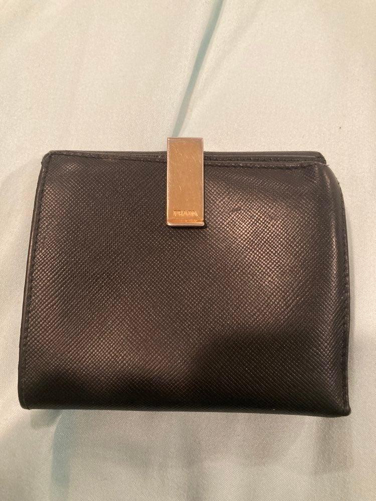 Vintage prada black Wallet