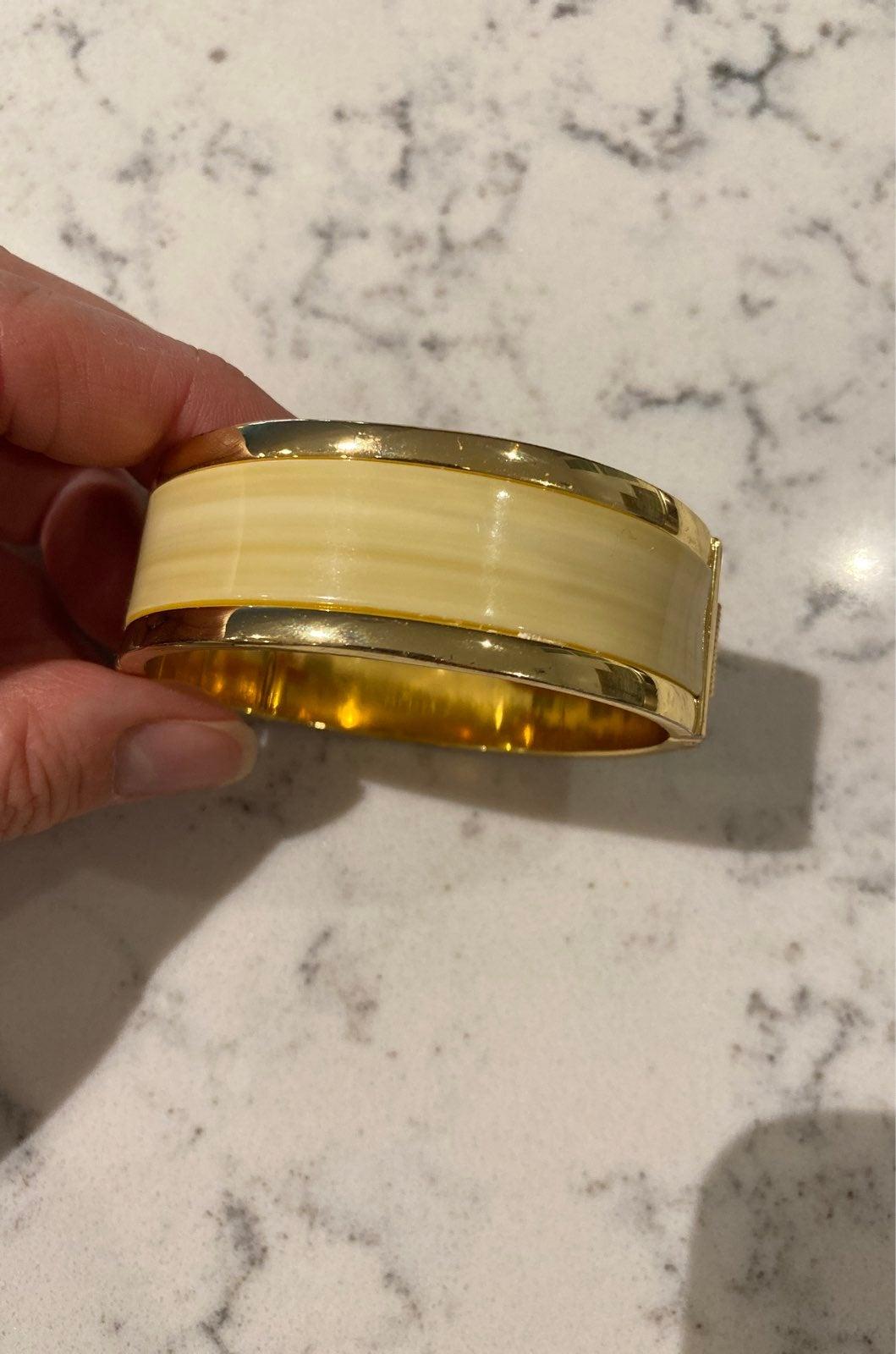 Ann Taylor Enamel cuff bracelet