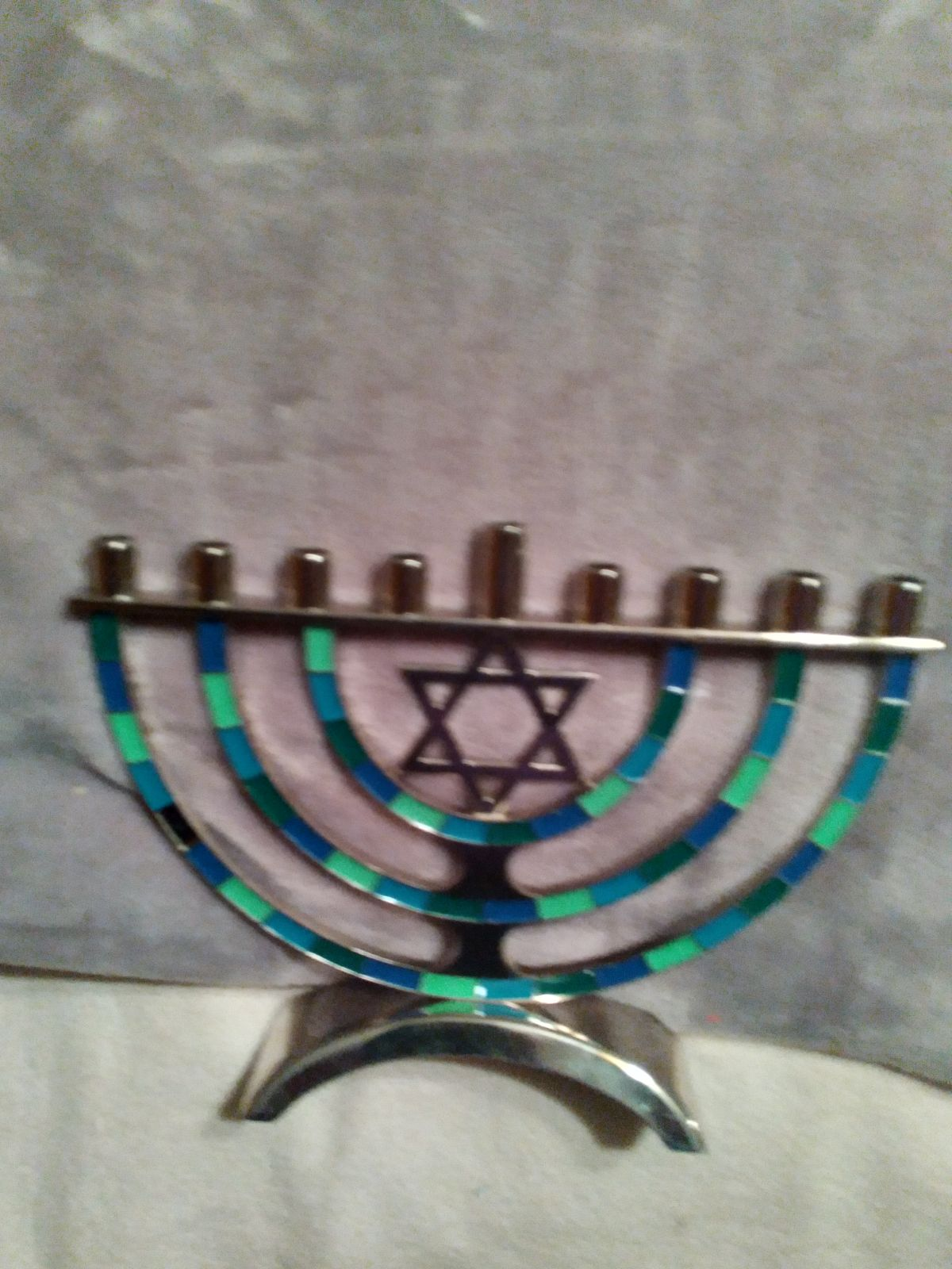 Hanukkah candle decor