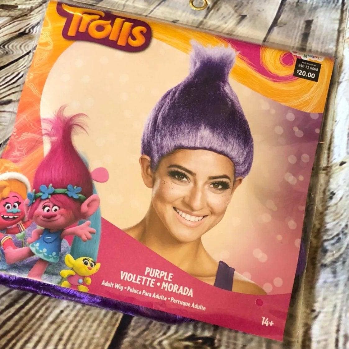 Disguise Purple Trolls Wig Halloween