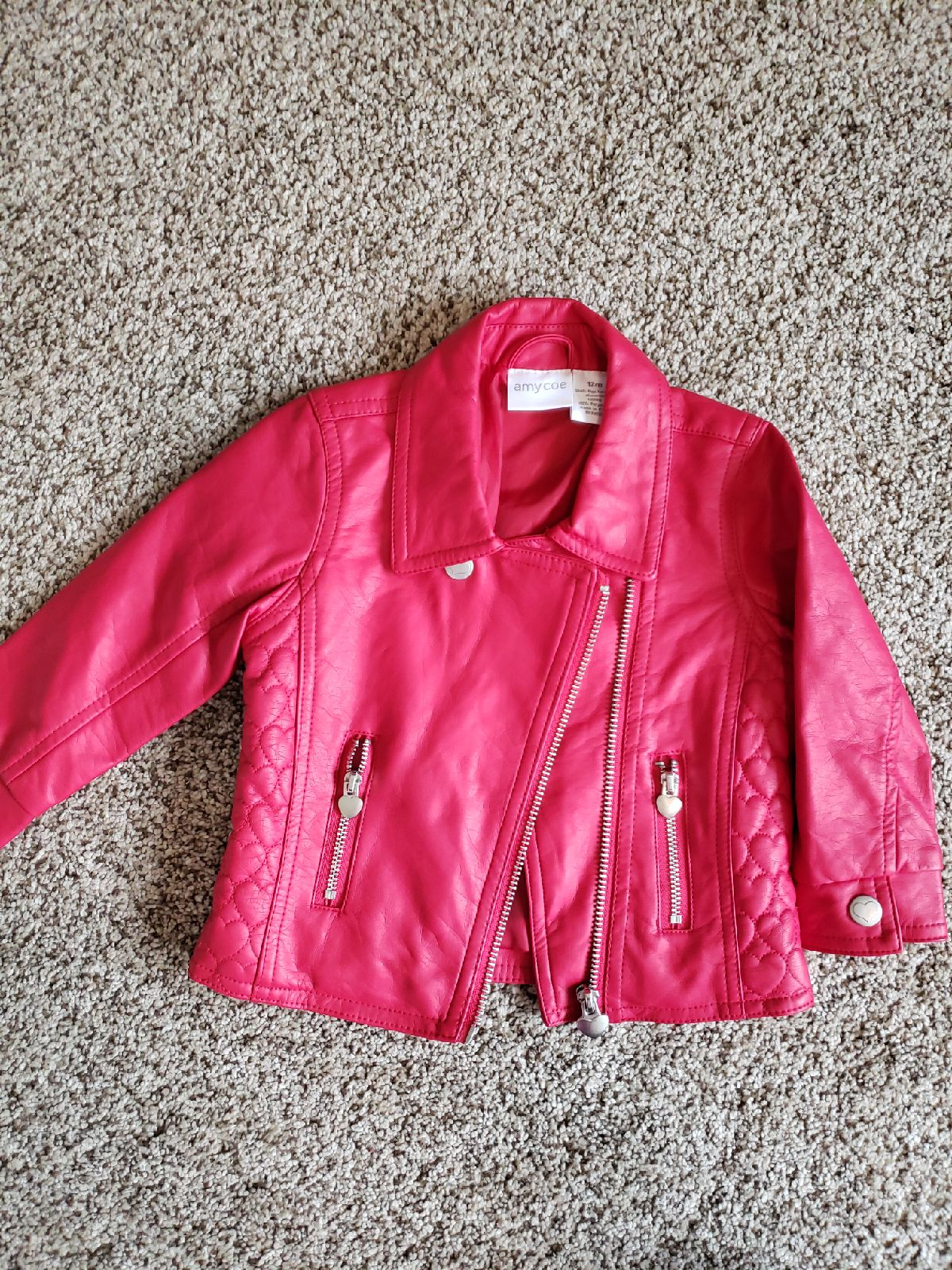 12 Mo Faux Leather Jacket