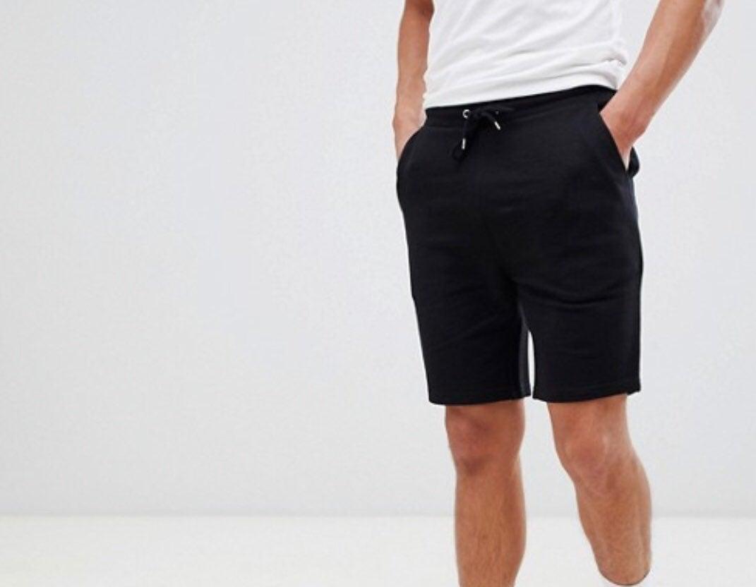 NIP Asos sz XL blk Jersey Skinny shorts