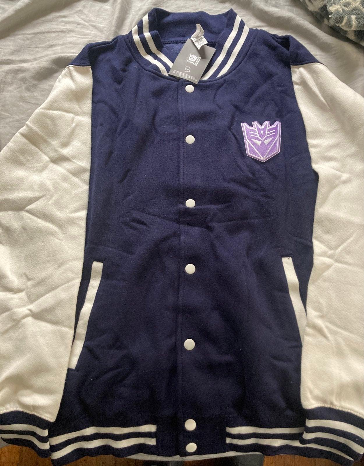Transformers Blue Varsity Jacket Large