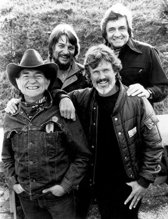 Willie Nelson Highwaymen Cash 8x10 photo