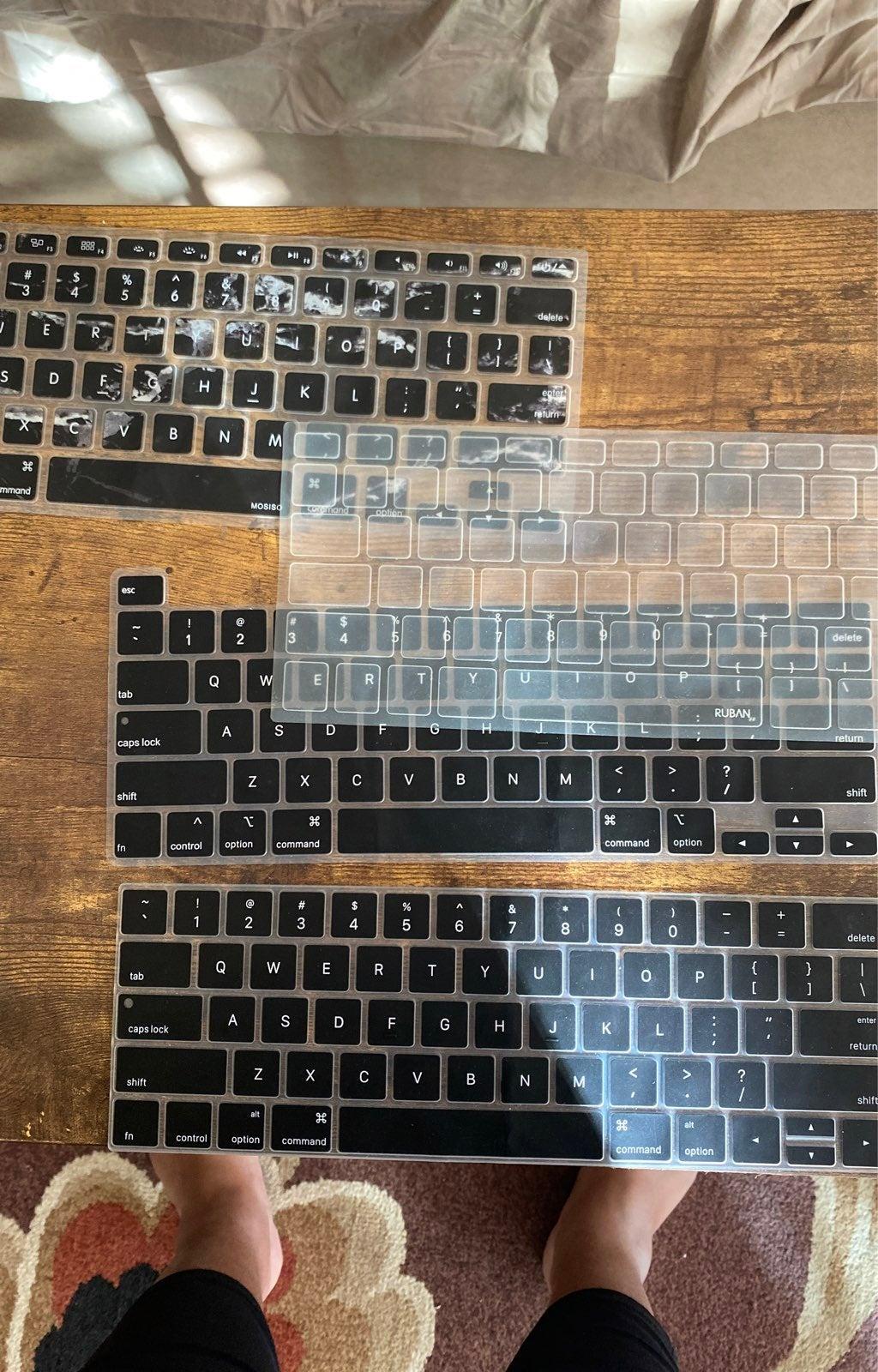 4 plastic keyboard covers imac