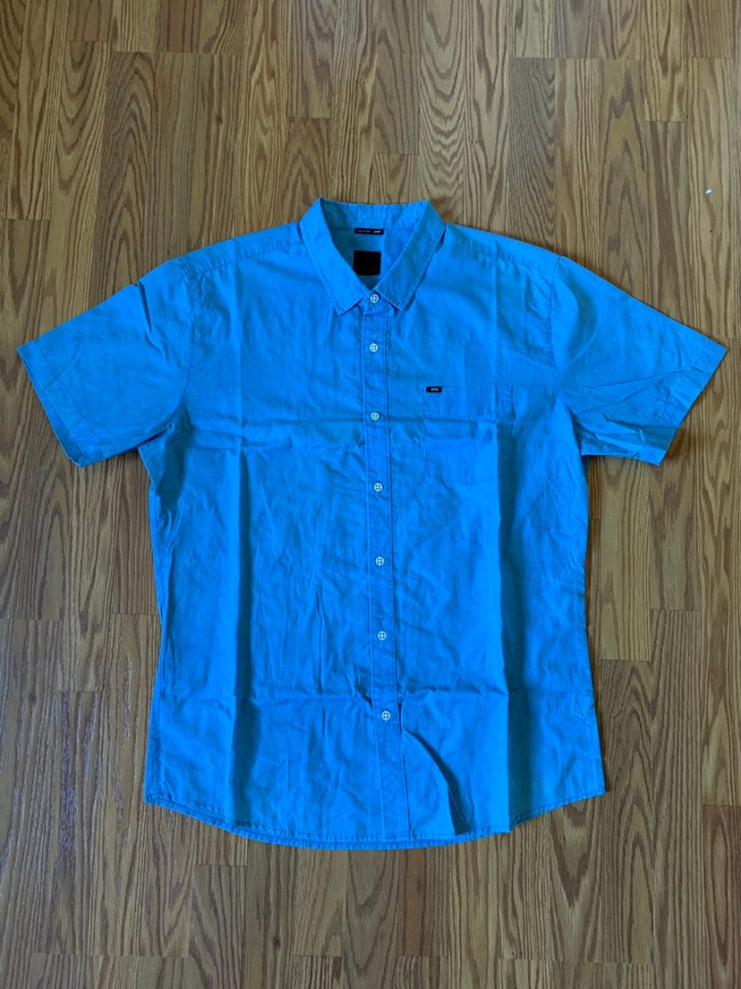 KREW POSTAL BLUE BUTTON-DOWN SHIRT