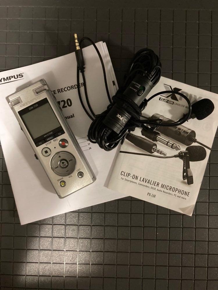 audio recorder lavalier microphone bundl