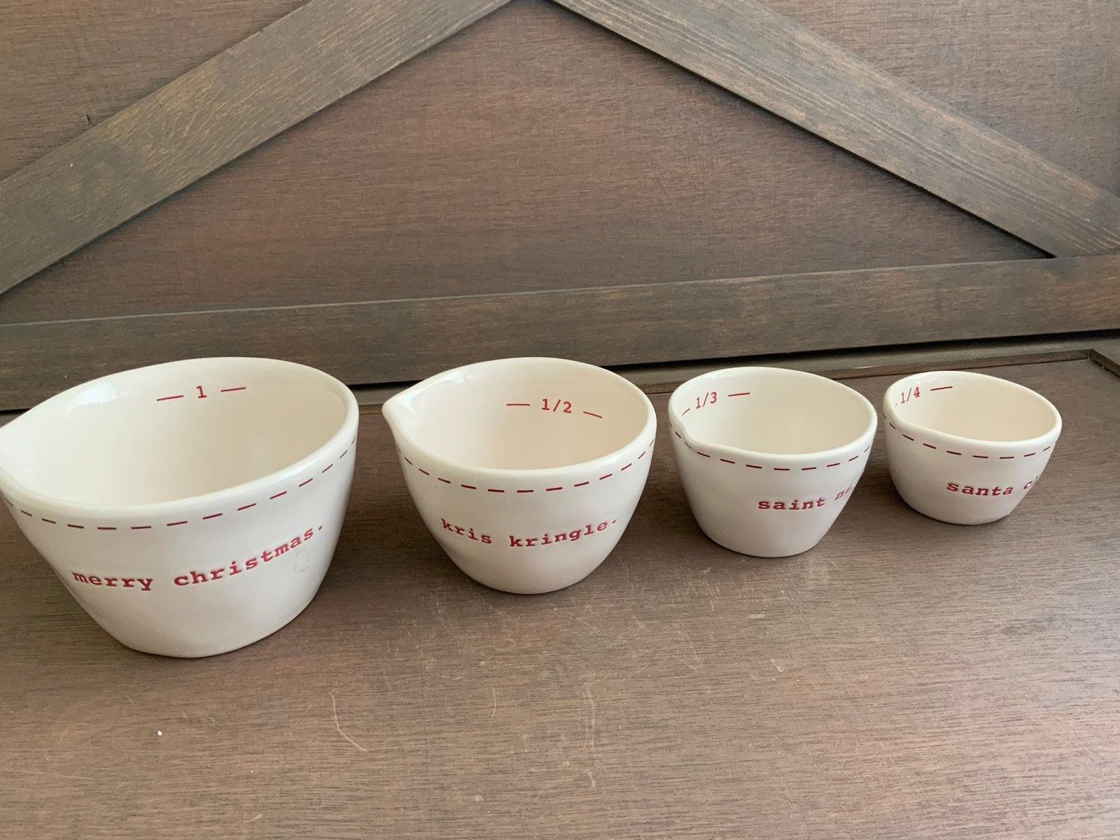 Rae Dunn christmas measuring cups