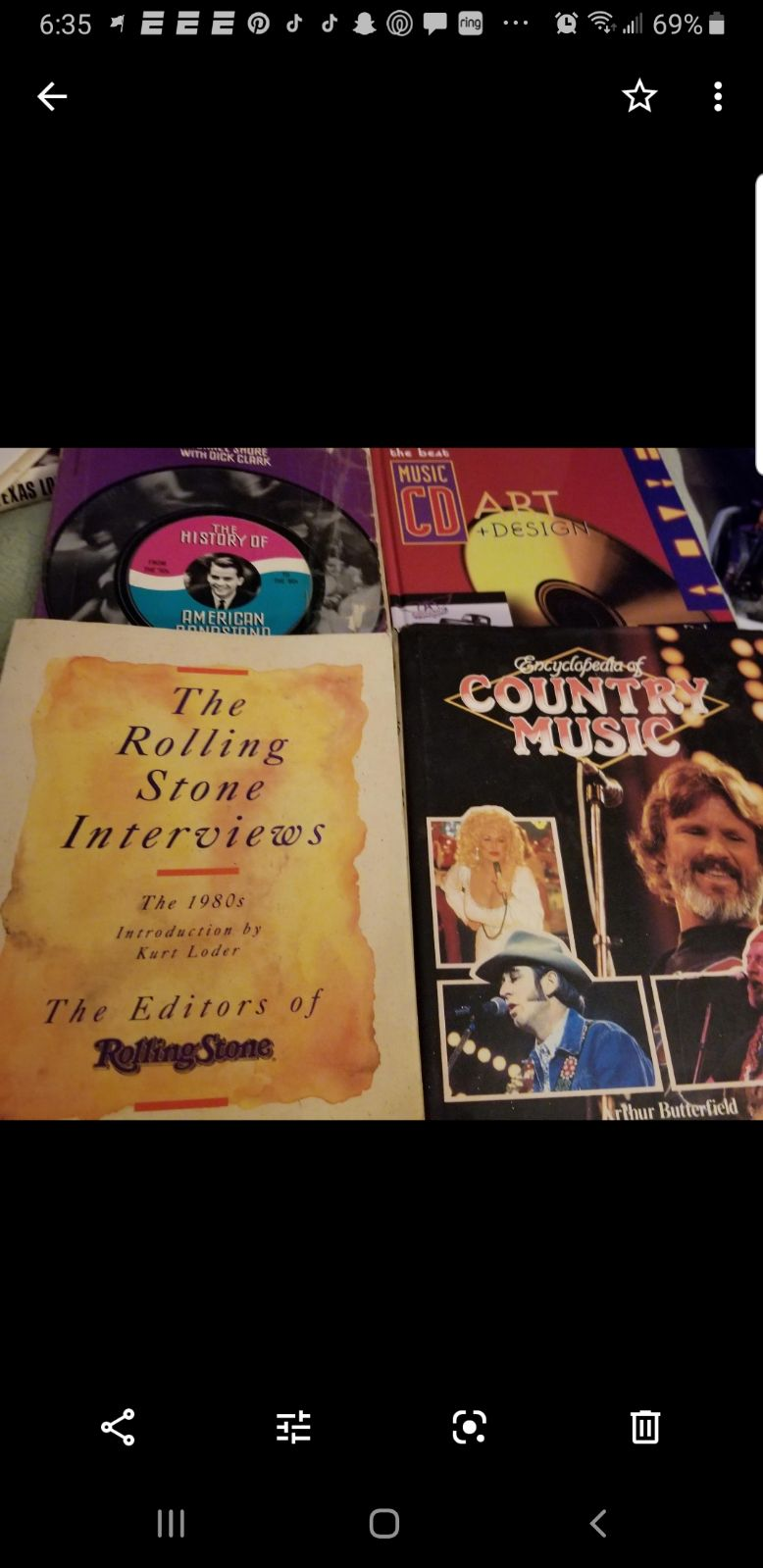 4 Music books Bandstand Rock Country+