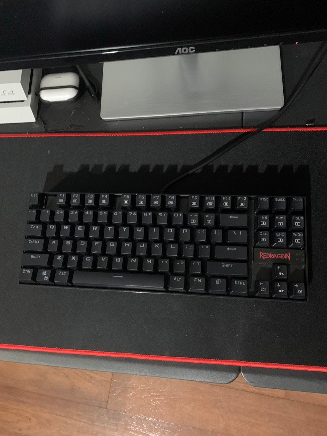 Red Dragon Keyboard + Black and Red Mous