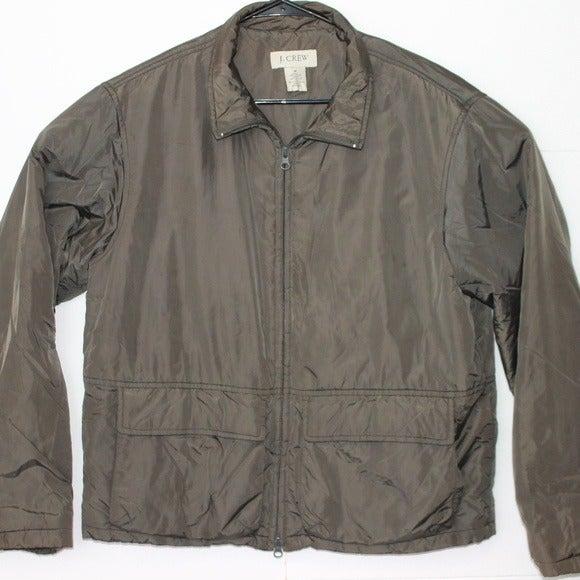 J. Crew Women's Medium Green Zip Jacket