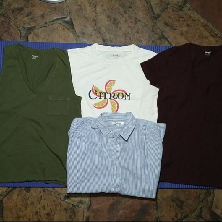 Madewell Four XS Tops Bundle