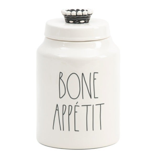 NEW Rae Dunn Pet Treat Jar Bone Appetit