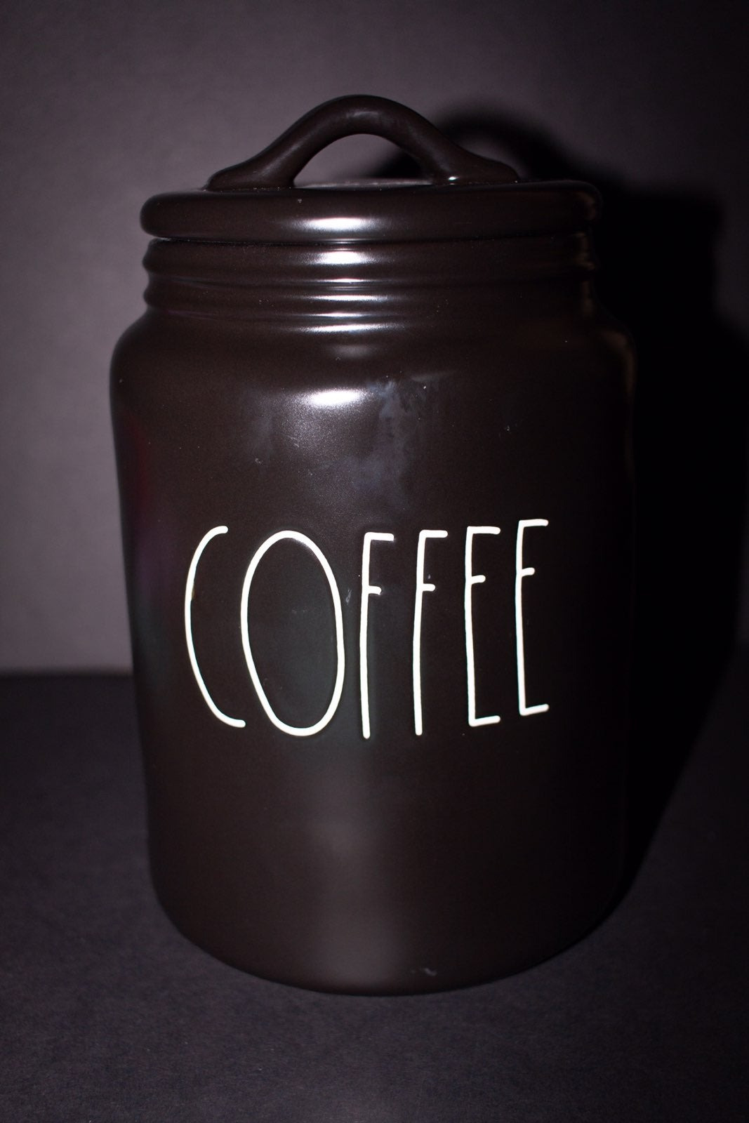 Rae Dunn Black Coffee Canister