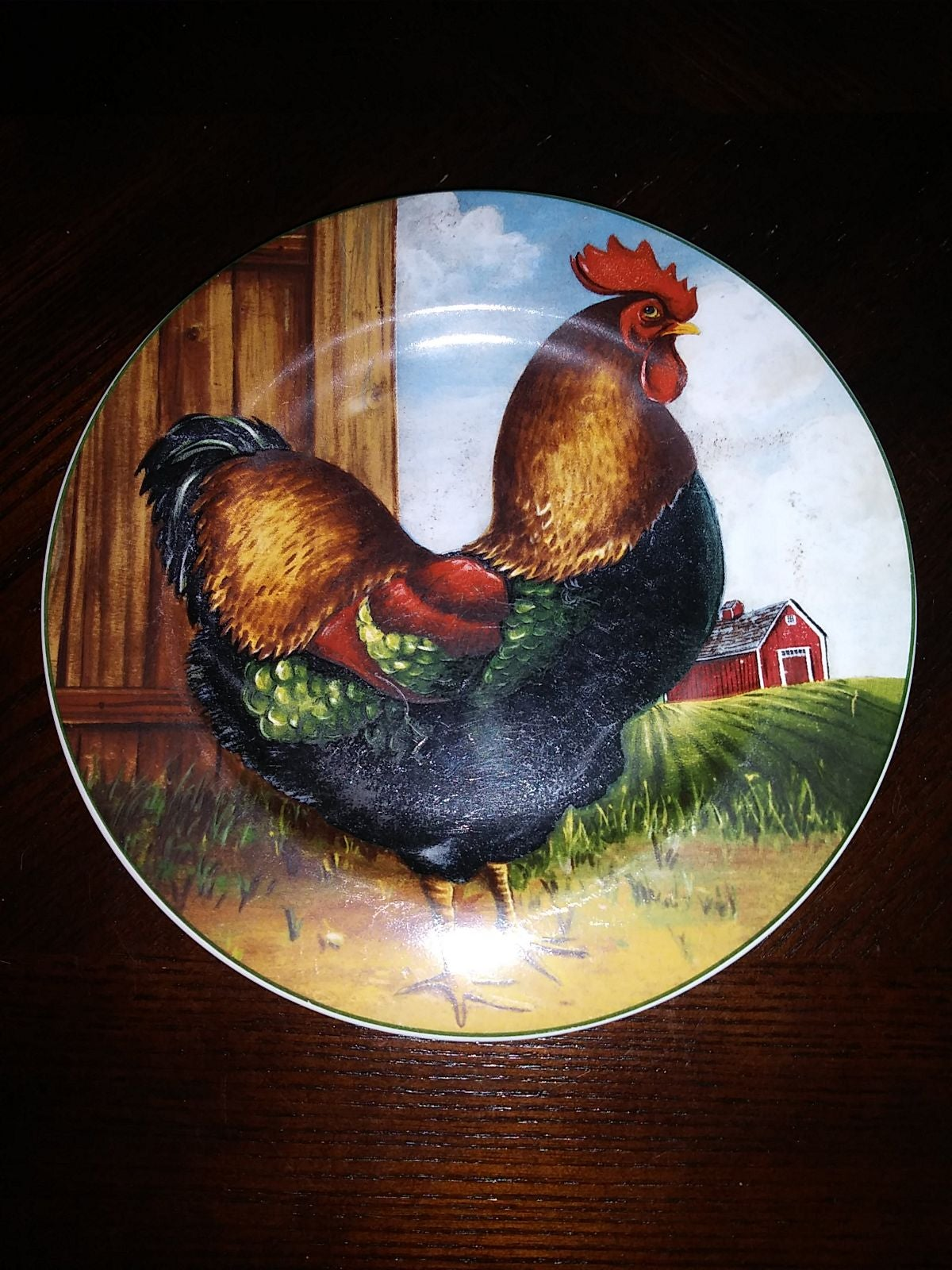 """David Carter Brown On The Farm 8"""" Plate"""