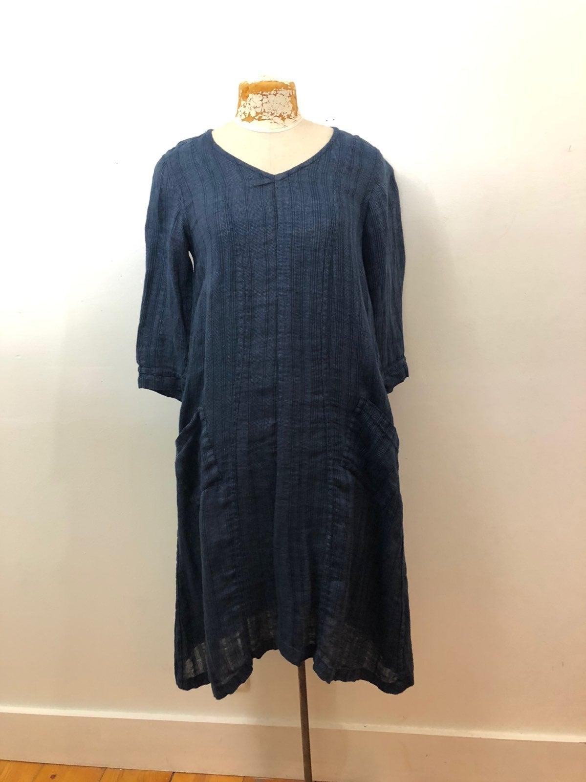 Indigo Flax Dress