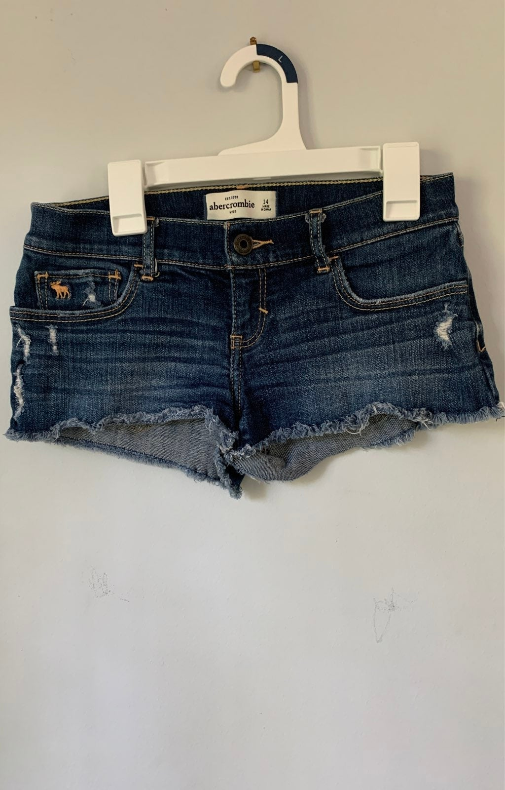 Abercrombie kids girls jean shorts