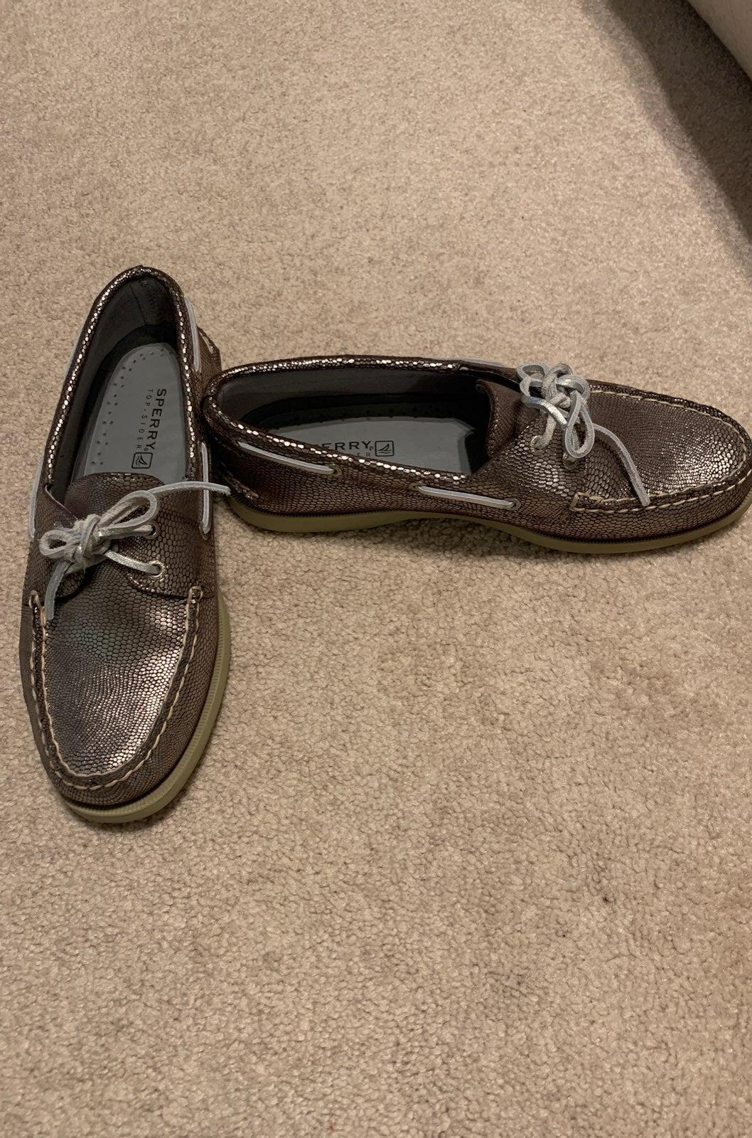 Sperry metallic boat shoe
