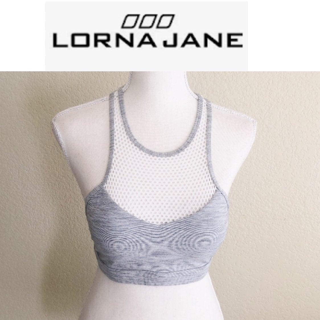 Lorna Jane Sport Bra Gray/white Med