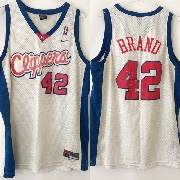 Nike Clippers Brand 42 Basketball Jersey