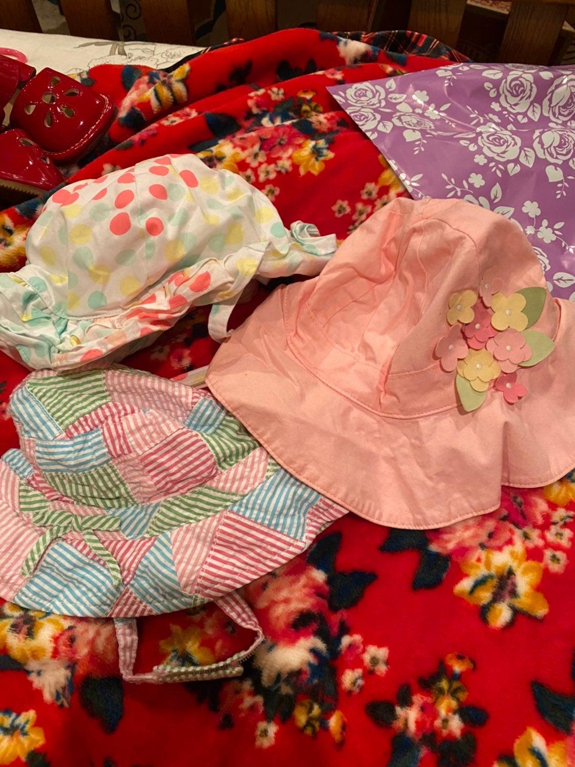 Gymboree sun beach hats set of 3!