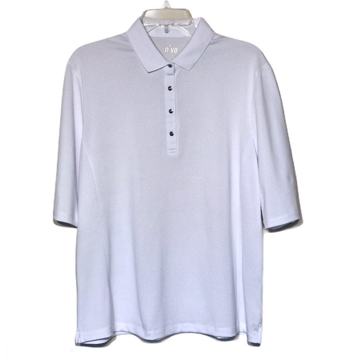 Nivo White Elbow Length Golf Top NWOT