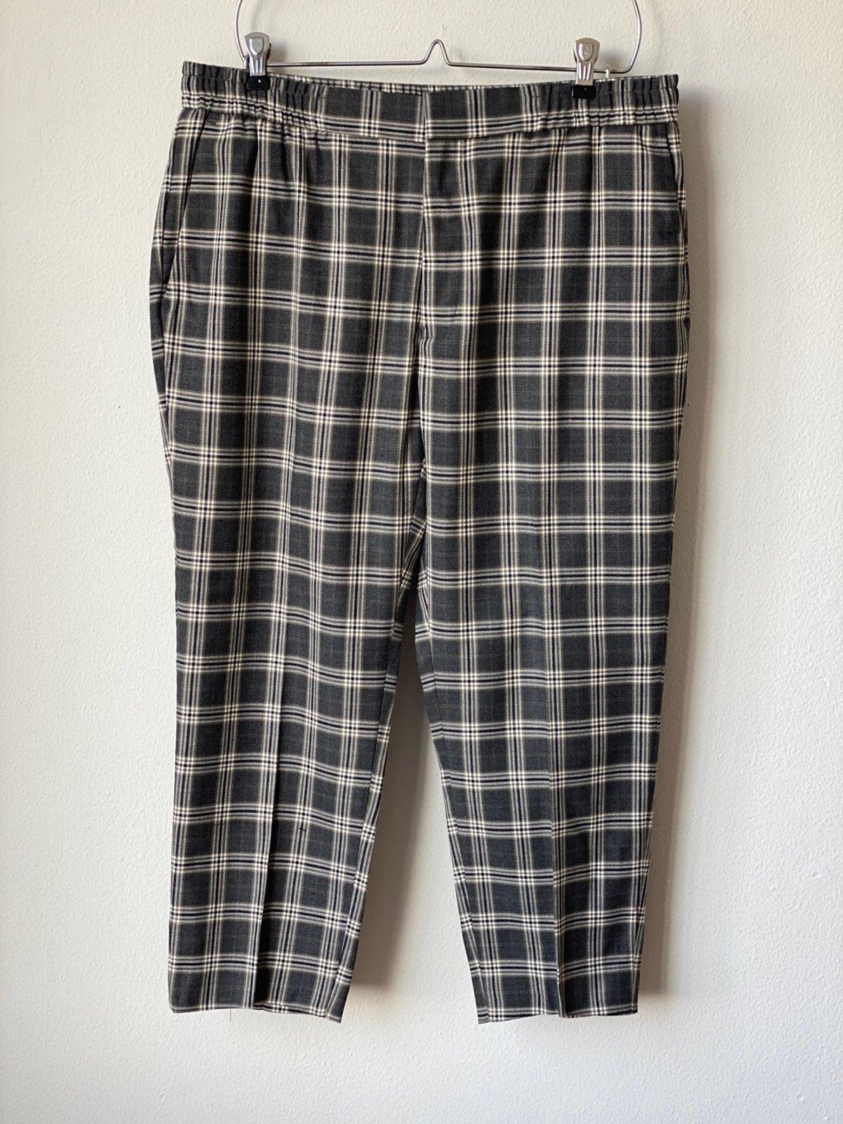 Topman Plaid Pants Sz36