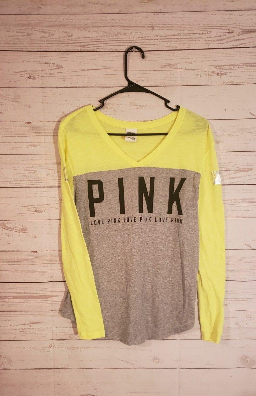 Pink XS v meck grey neon green long slee