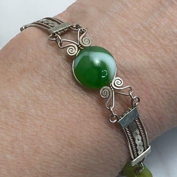 Native American Inspired Silver Bracelet