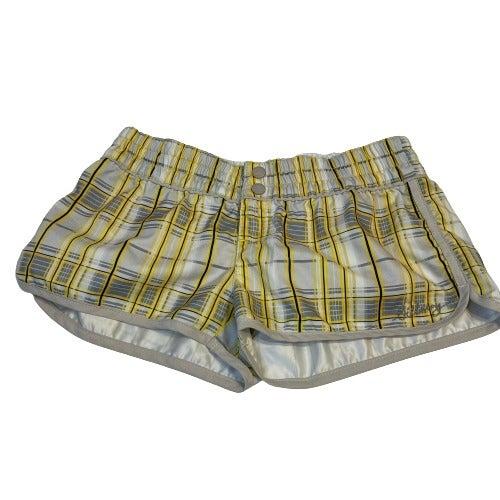 Billabong Yellow Plaid Swim Shorts