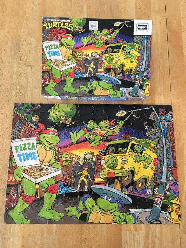 1989 TMNT Jigsaw Puzzle vintage