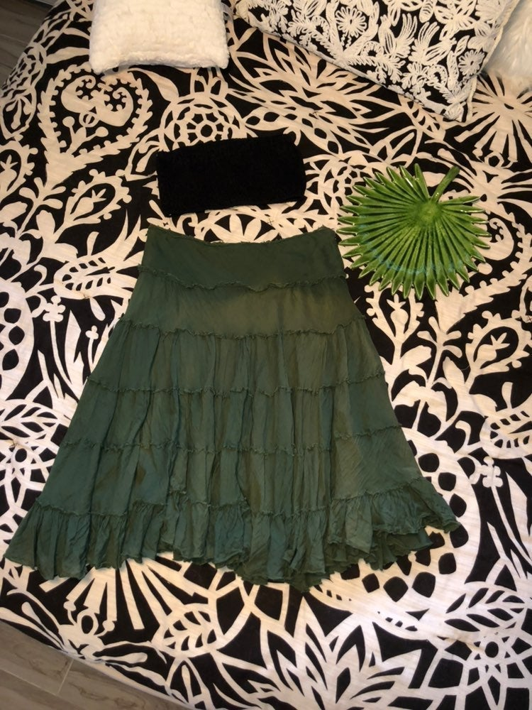 Beachy Olive Green Skirt
